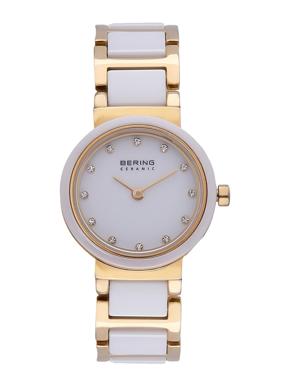 Bering Women Gold Toned Ceramic Analog Watch 10725 751