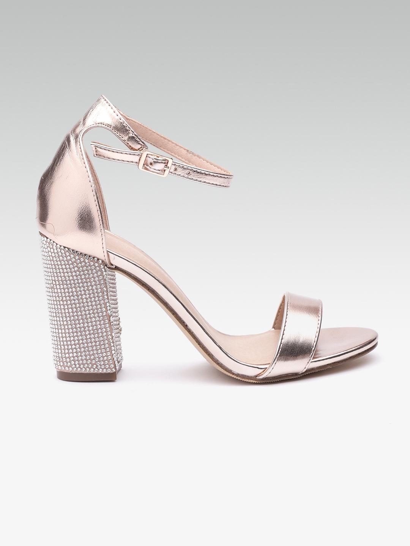 861b9eaaf14 Buy Steve Madden Women Rose Gold Solid Block Heels - Heels for Women ...