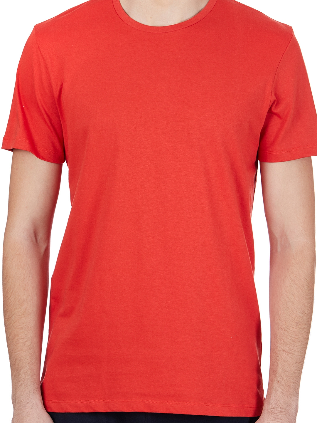 baadd9402 Buy Free Authority Men Red Solid Round Neck T Shirt - Tshirts for ...