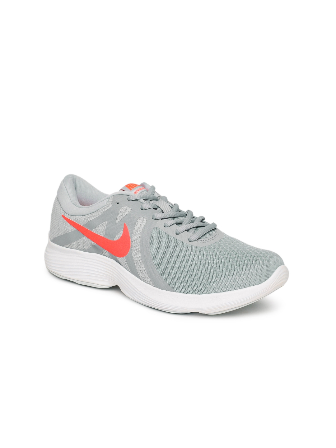 495af5002abc3 Buy Nike Women Grey Solid REVOLUTION 4 Running Shoes - Sports Shoes ...