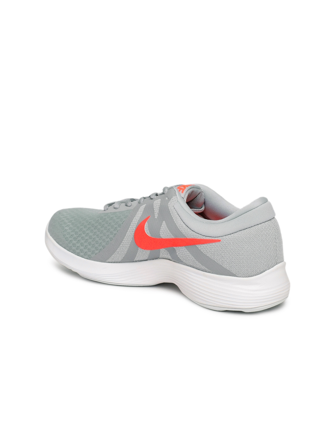3d7b3ab85ff4 Buy Nike Women Grey Solid REVOLUTION 4 Running Shoes - Sports Shoes ...