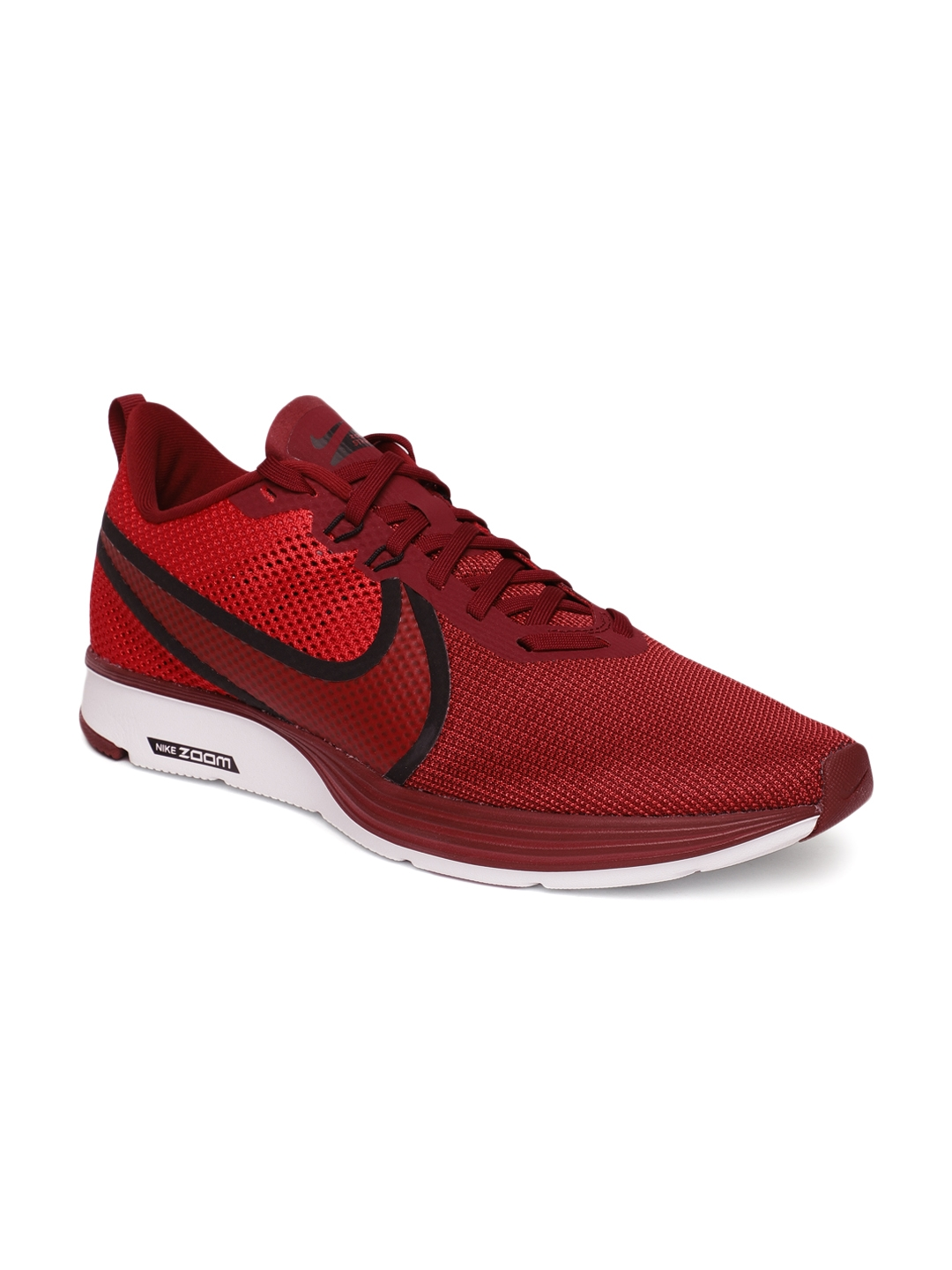 30163f2af007a Buy Nike Men Red Solid ZOOM STRIKE 2 Running Shoes - Sports Shoes ...