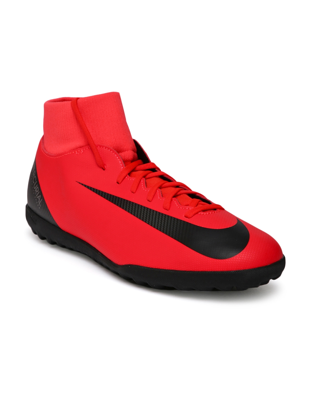 Nike Kids Red SUPERFLY 6 CLUB CR7 IC Junior Football Shoes