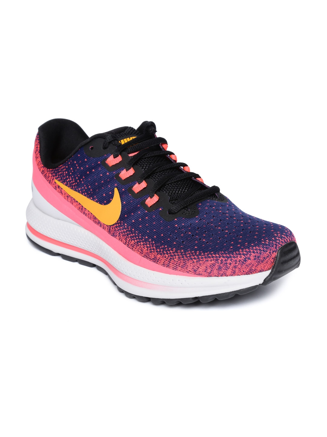 687d301123bec Buy Nike Men Blue   Pink Air Zoom Vomero 13 Running Shoes - Sports ...