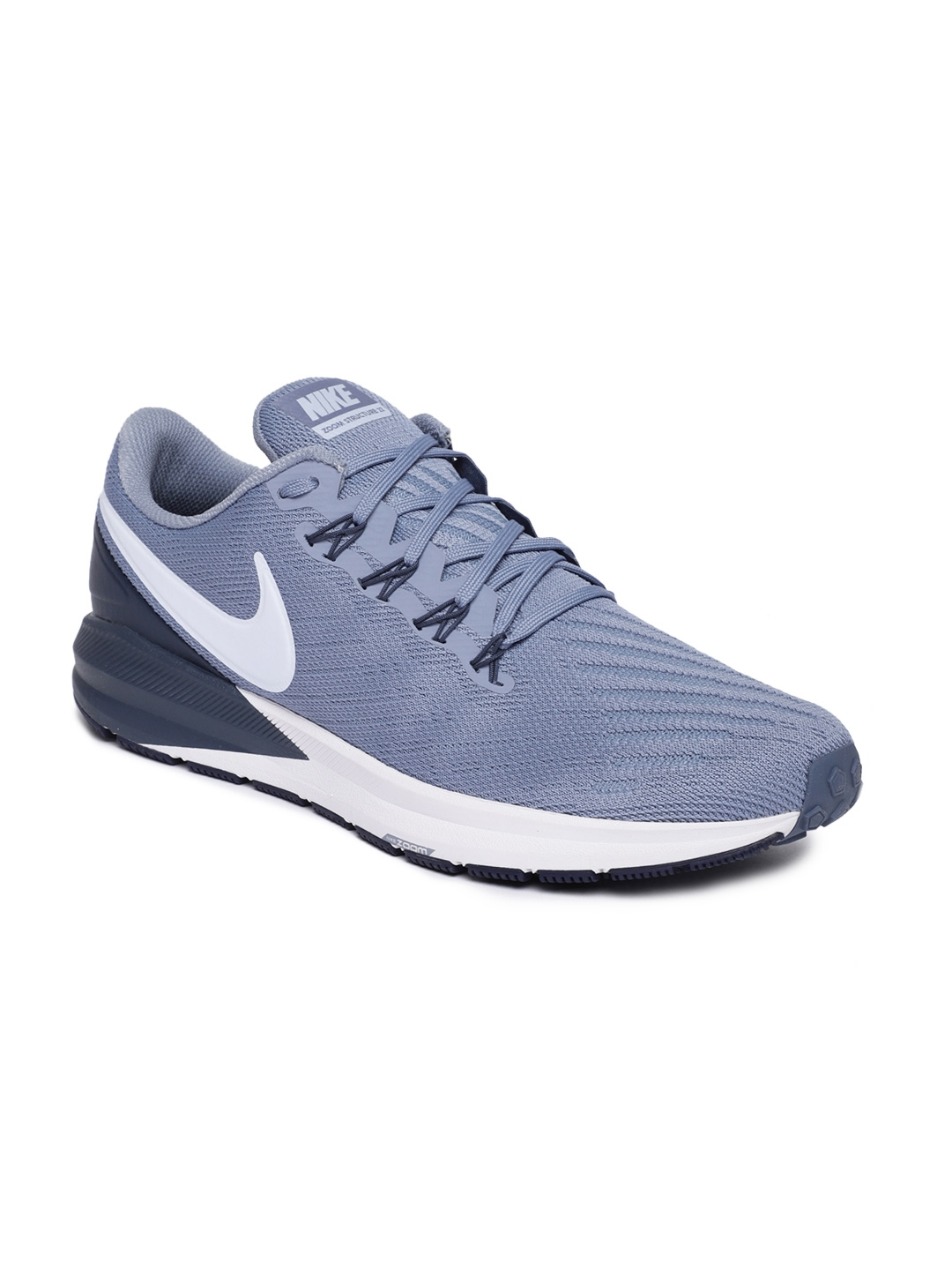 5225f300e404 Buy Nike Men Blue AIR ZOOM STRUCTURE 22 Running Shoes - Sports Shoes ...