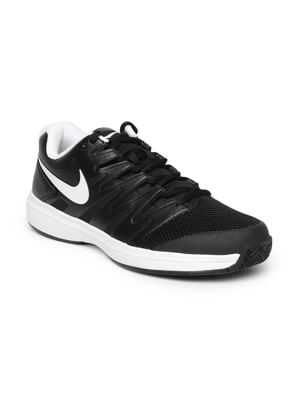 5fbf075fa8ec5 Buy Nike Men Black Solid AIR ZOOM PRESTIGE HC Tennis Shoes - Sports ...