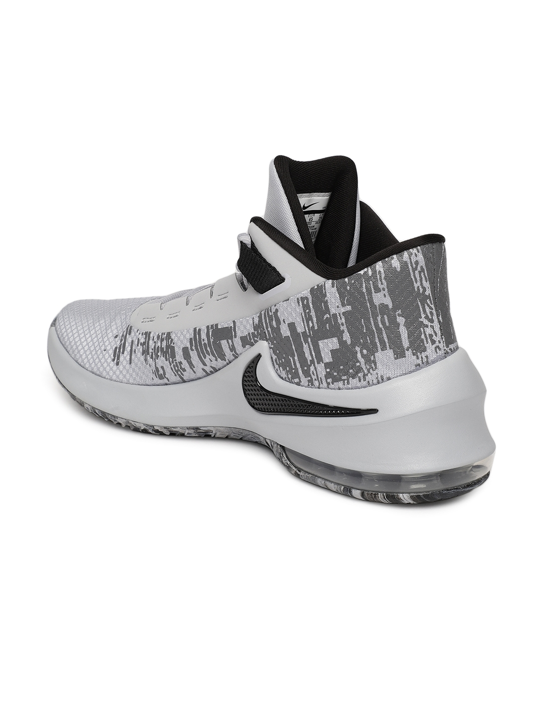 b95605d1917 Nike Men Grey Solid Mesh Mid-Top AIR MAX INFURIATE 2 MID Basketball Shoes