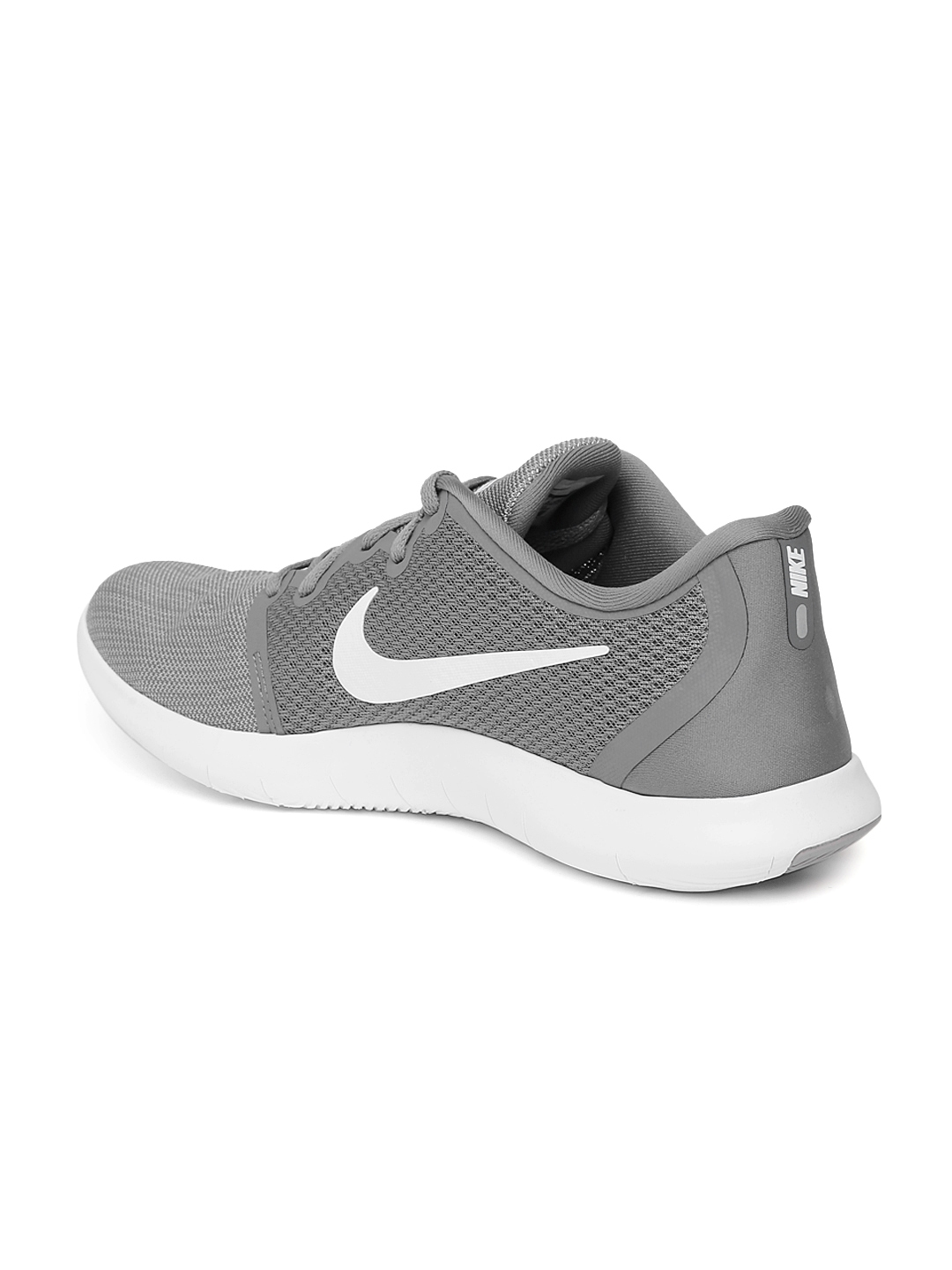 d15c9f9873a86 Buy Nike Men Grey Solid FLEX CONTACT 2 Running Shoes - Sports Shoes ...