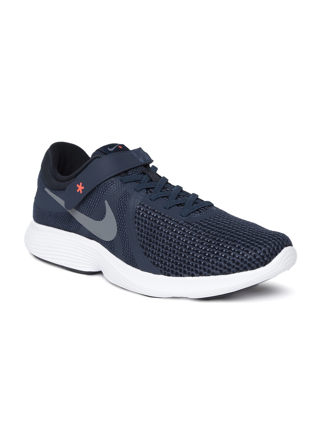 check out 6286e e8bab Nike Men Navy Blue Solid REVOLUTION 4 FLYEASE Running Shoes