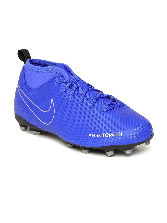 new arrival 36213 0a477 Nike Kids Blue Phantom Vision Club Dynamic Fit FGMG Football Shoes