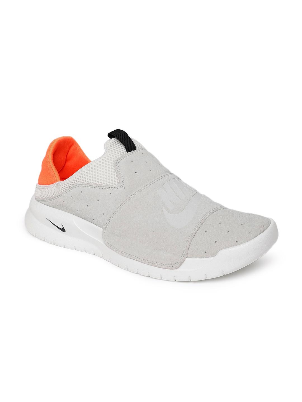 Buy Nike Men Grey \u0026 White Benassi Slip