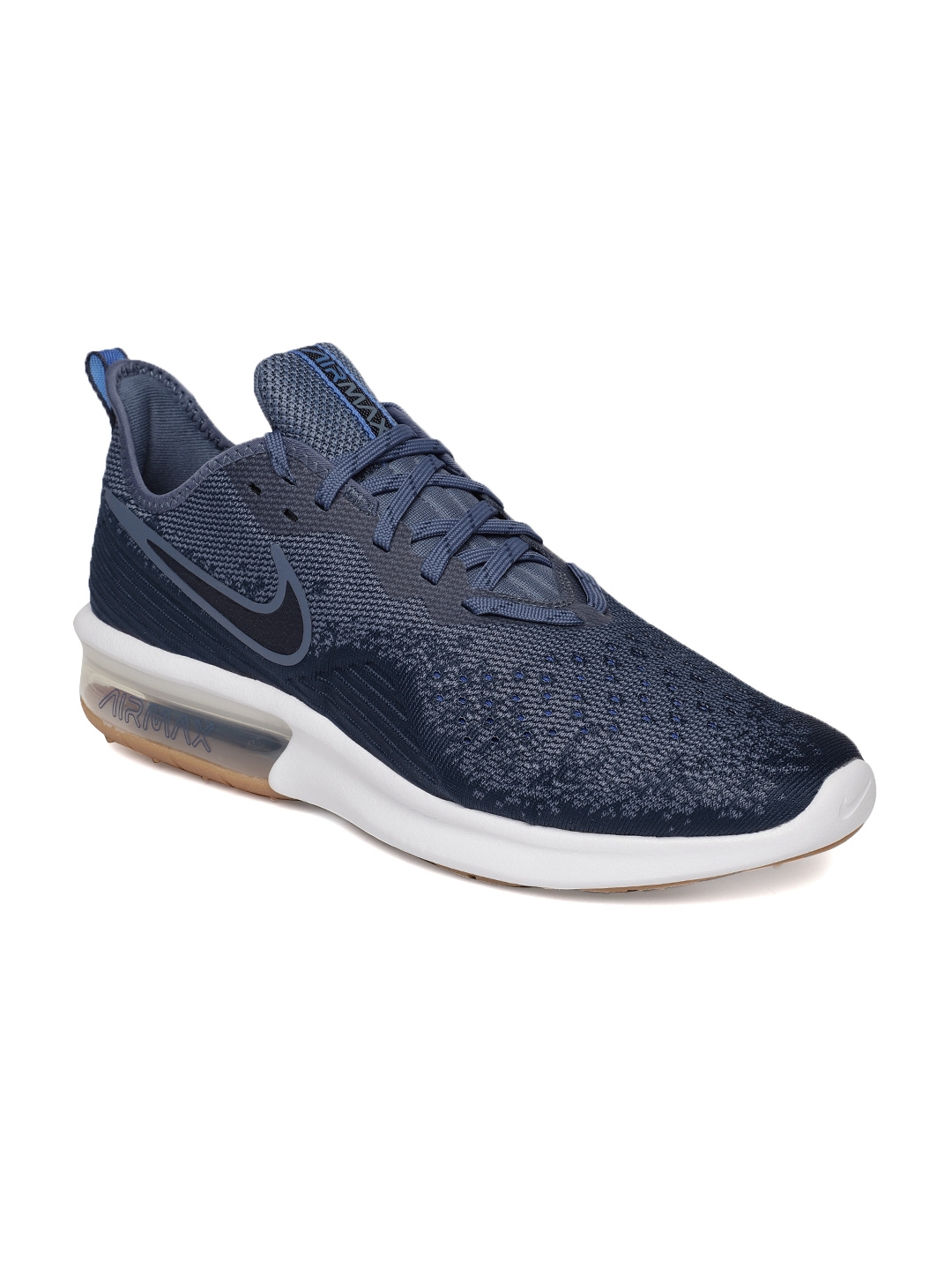 db719dc4da Buy Nike Men Navy Blue Air Max Sequent 4 Sneakers - Casual Shoes for ...