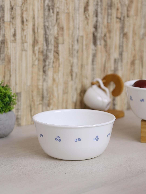 Corelle White Printed 7 Pieces Glass Bowl Set