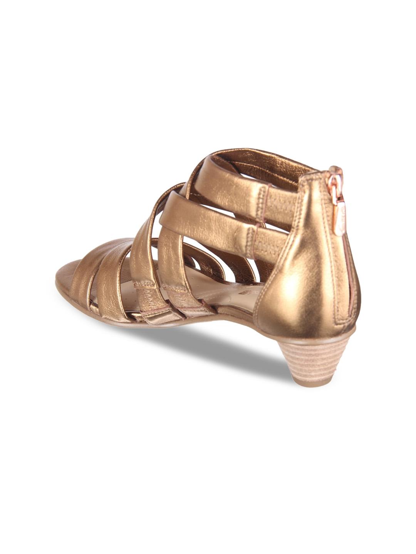 7b5da17c7de0 Buy Clarks Women Gold Toned Solid Gladiators - Heels for Women ...