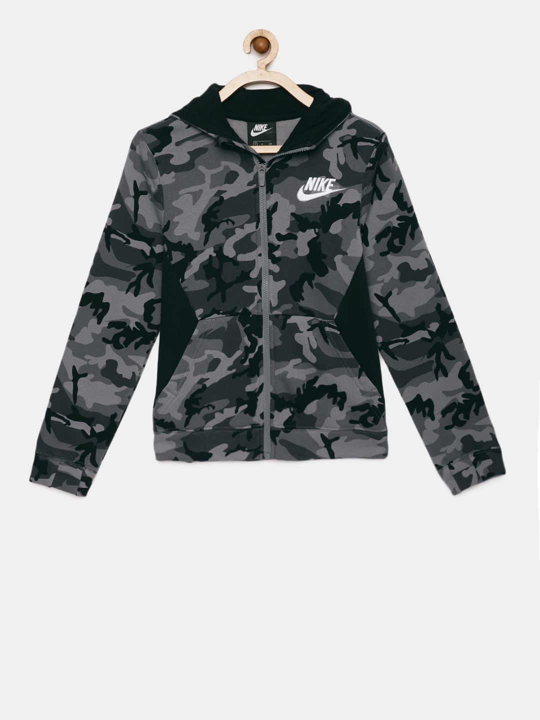 nike b nsw club fleece fz aop