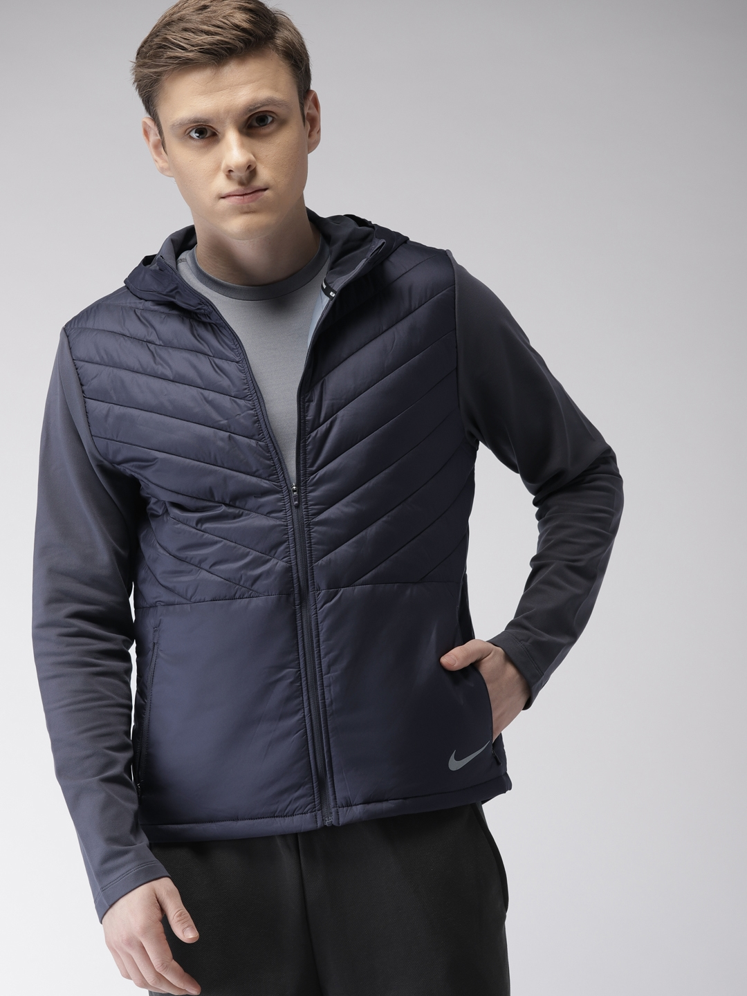 empujar en un día festivo Descolorar  Buy Nike Men Navy AS M NK AROLYR Solid Thermal Insulation Technology Hooded  Puffer Jacket - Jackets for Men 7500714 | Myntra