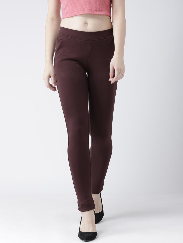 Devis Women Brown Skinny Fit Jeggings