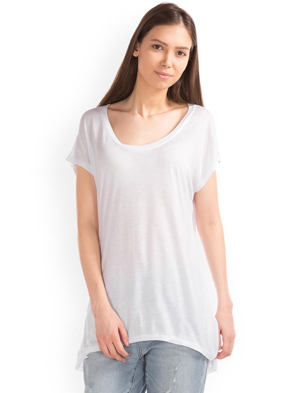 GAP Women White Slouchy Cap Sleeve Top