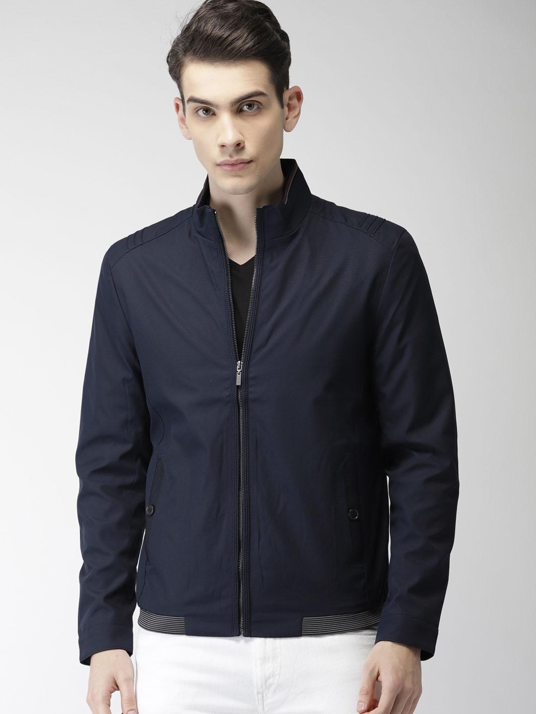 df635ef284d Buy Arrow Sport Men Navy Solid Tailored Jacket - Jackets for Men ...