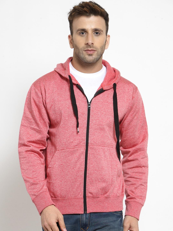 9211859b8 Buy AWG ALL WEATHER GEAR Men Red Solid Hooded Sweatshirt ...
