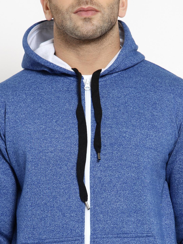 cc906d6ab Buy AWG ALL WEATHER GEAR Men Blue Solid Hooded Sweatshirt ...