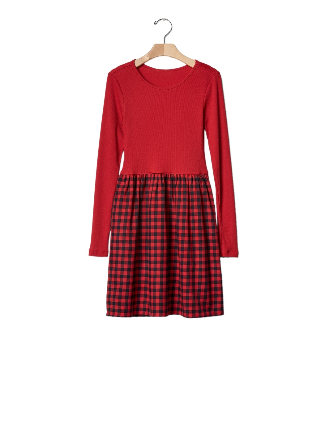 bb5bdddaf16 Buy GAP Girls Red Mix Fabric Plaid Dress - Dresses for Girls 7520540 ...