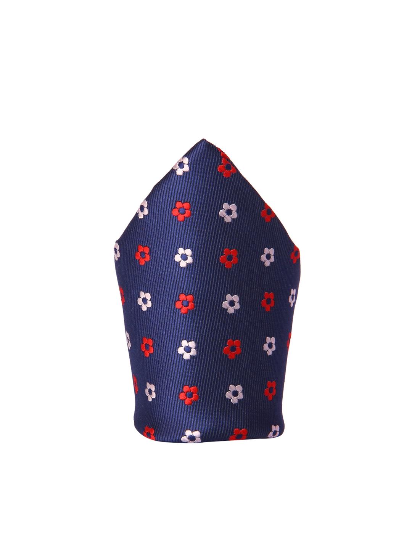 60c894db313e Buy Tossido Men Blue, Red & White Woven Pocket Square - Pocket ...