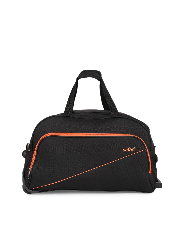 Safari Unisex Black Medium Duffel Trolley Bag