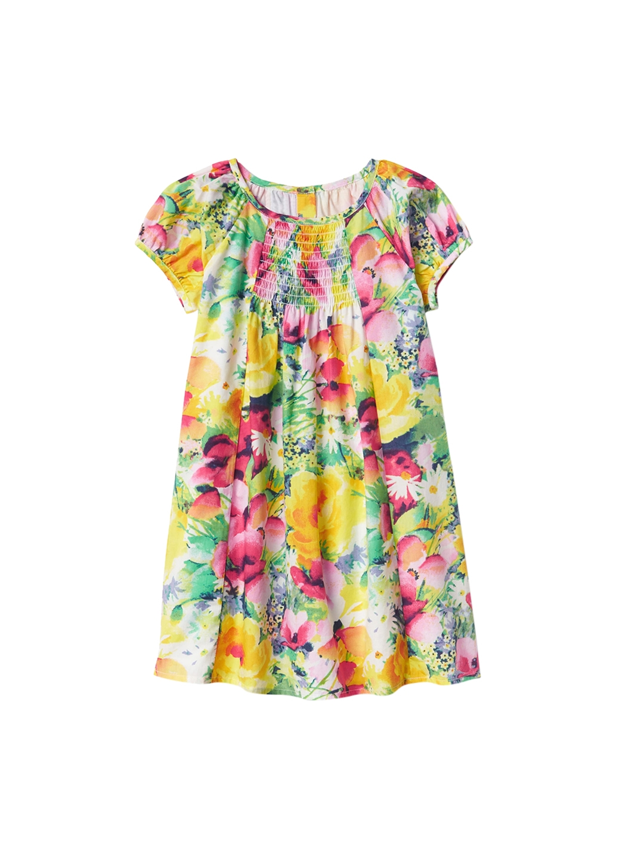 Gap Multicoloured Toddler Fl Smocked Bib Dress
