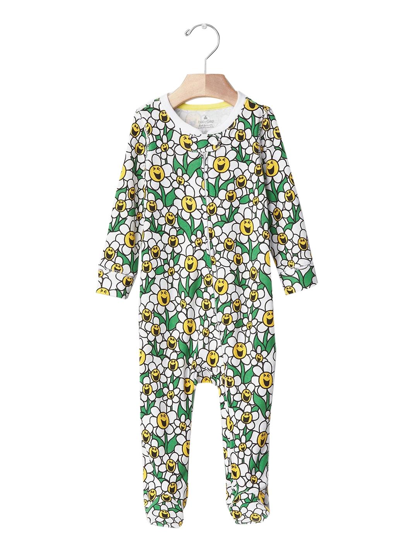 ce66fe83f6c45 GAP Baby Yellow & Green Mr. Men Little Miss Babygap Flower Power Footed  One-Piece