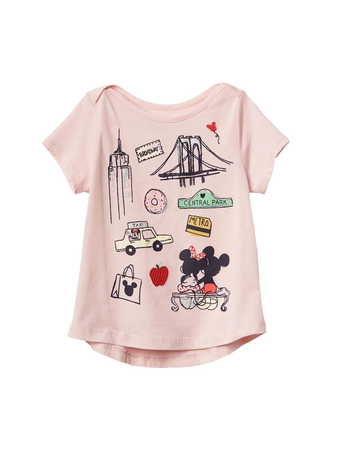 0307642c GAP Toddler Girl Pink Babygap | Disney Baby Mickey Mouse And Minnie Mouse  Hi-Lo T-shirt