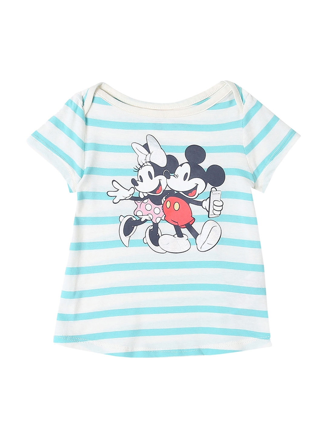 b59a5f620 GAP Toddler Girl Blue Babygap | Disney Baby Mickey Mouse And Minnie Mouse  Hi-Lo T-shirt