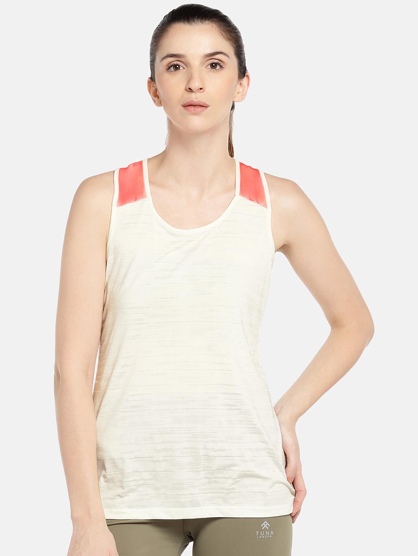 Tuna London Women White Solid Round Neck T shirt