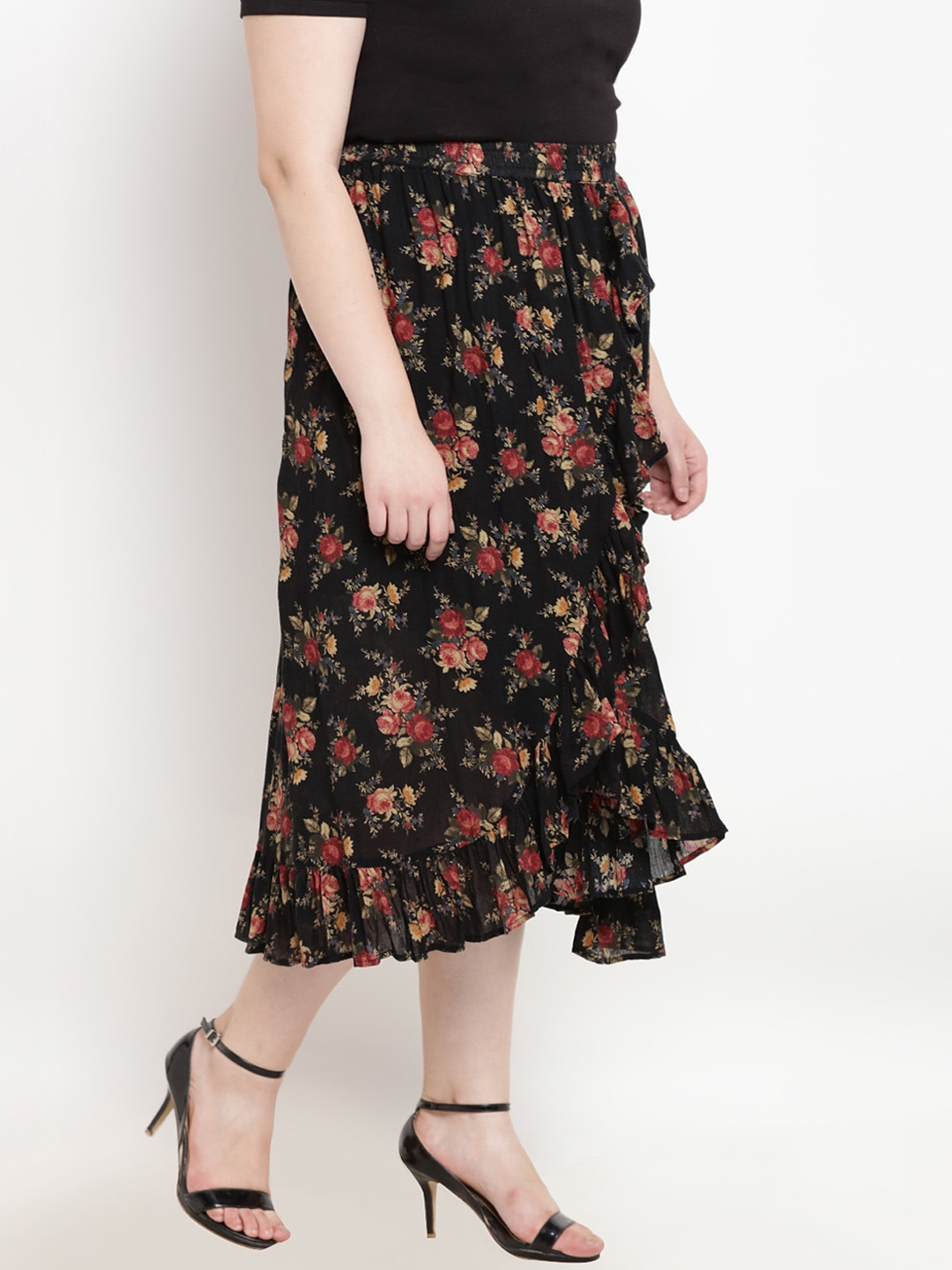 b98ba7e836 Buy The Pink Moon Women Black Printed A Line Skirt - Skirts for ...