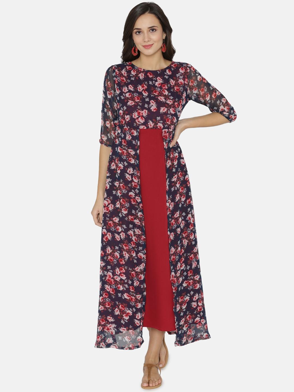 1917e20ecaff Buy Alom Women Maroon Printed Maxi Dress - Dresses for Women 7571098 ...