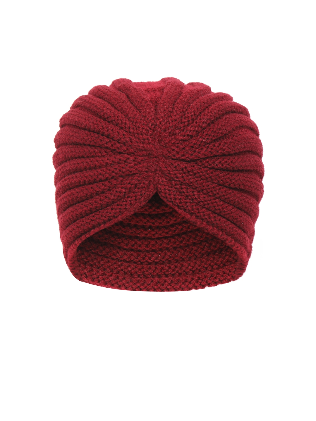 FabSeasons Women Maroon Patterned Skull Cap