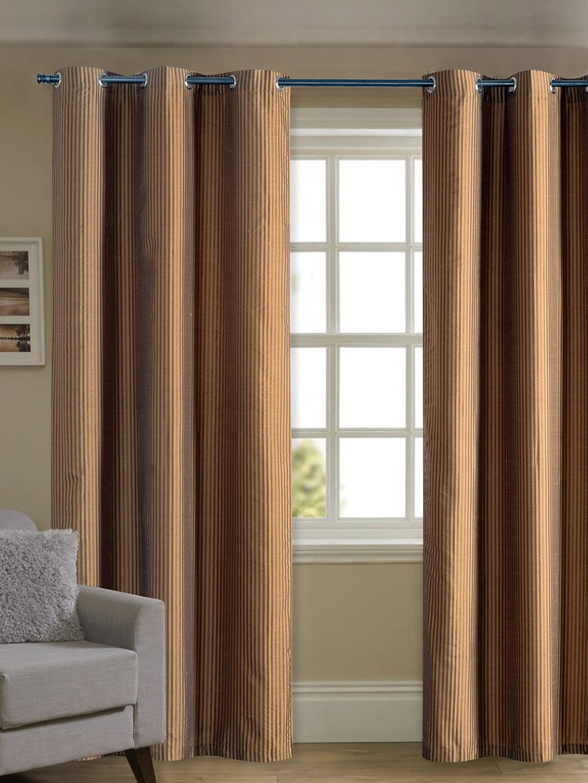 Deco Window Gold Toned U0026 Brown Door Curtain