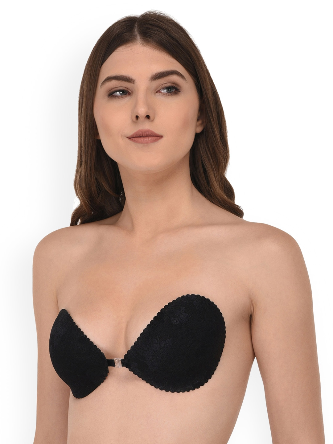 a474cba8b0fdb Quttos Black Printed Non-Wired Lightly Padded Push-Up Bra  QT BR STI SLF BLK 36B