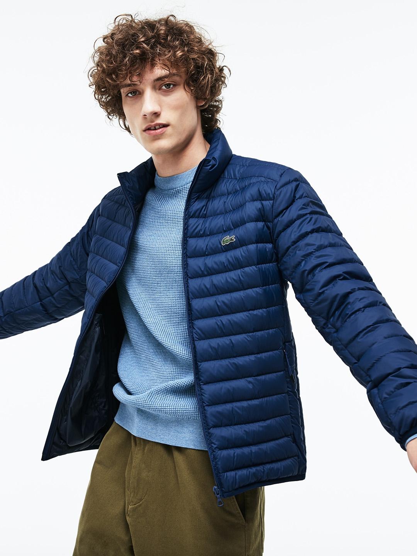 fc3a90a9f48d Buy Lacoste Men Navy Blue Solid Lightweight Puffer Jacket - Jackets ...