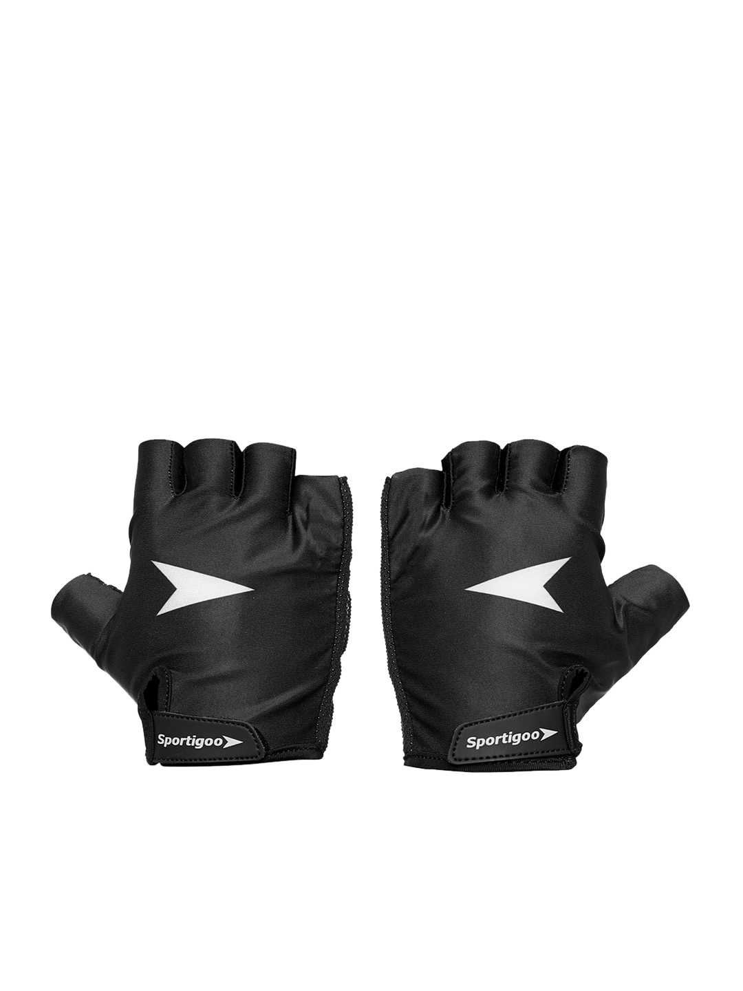 Sportigoo Men Black   White Vent X Gym   Fitness Gloves