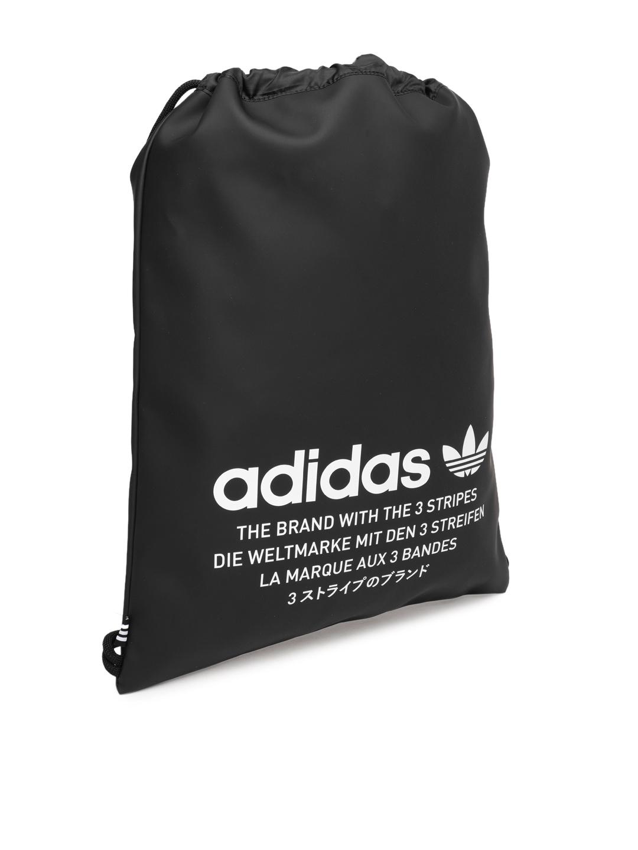 d4dee914ac Buy Adidas Originals Unisex Black Brand Logo Backpack - Backpacks ...