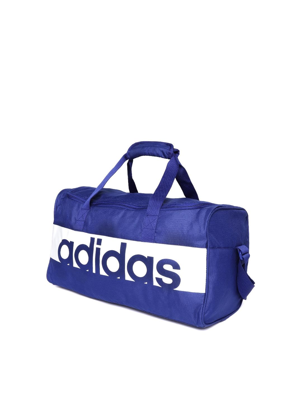 Buy ADIDAS Unisex Blue Linear Performance S Training Duffle Bag ... f192c744c1