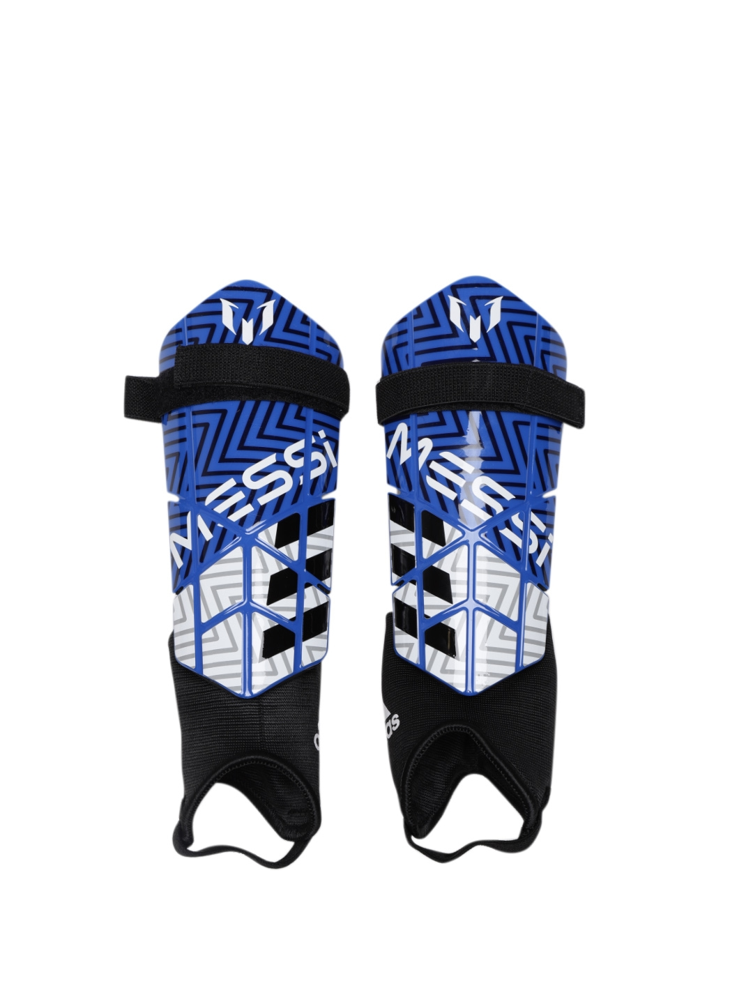 Buy ADIDAS Unisex Blue Messi 10 Youth Soccer Shin Guards - Sports ... c7701cb8ab