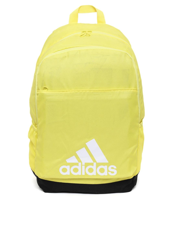 Buy ADIDAS Unisex Yellow CLASSICLOGO2CBP Brand Logo Backpack ... b19bf58085eab