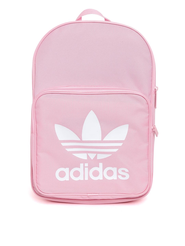 e587741d89 ADIDAS Originals Unisex Pink Classic Trefoil Brand Logo Print Laptop  Backpack