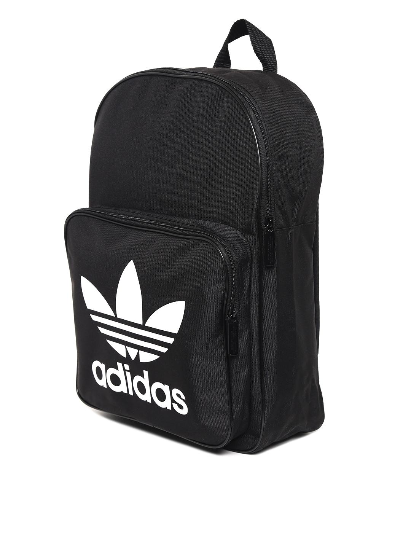 Buy Adidas Originals Unisex Black CLAS Trefoil Brand Logo Backpack ... 7133195f84b3a