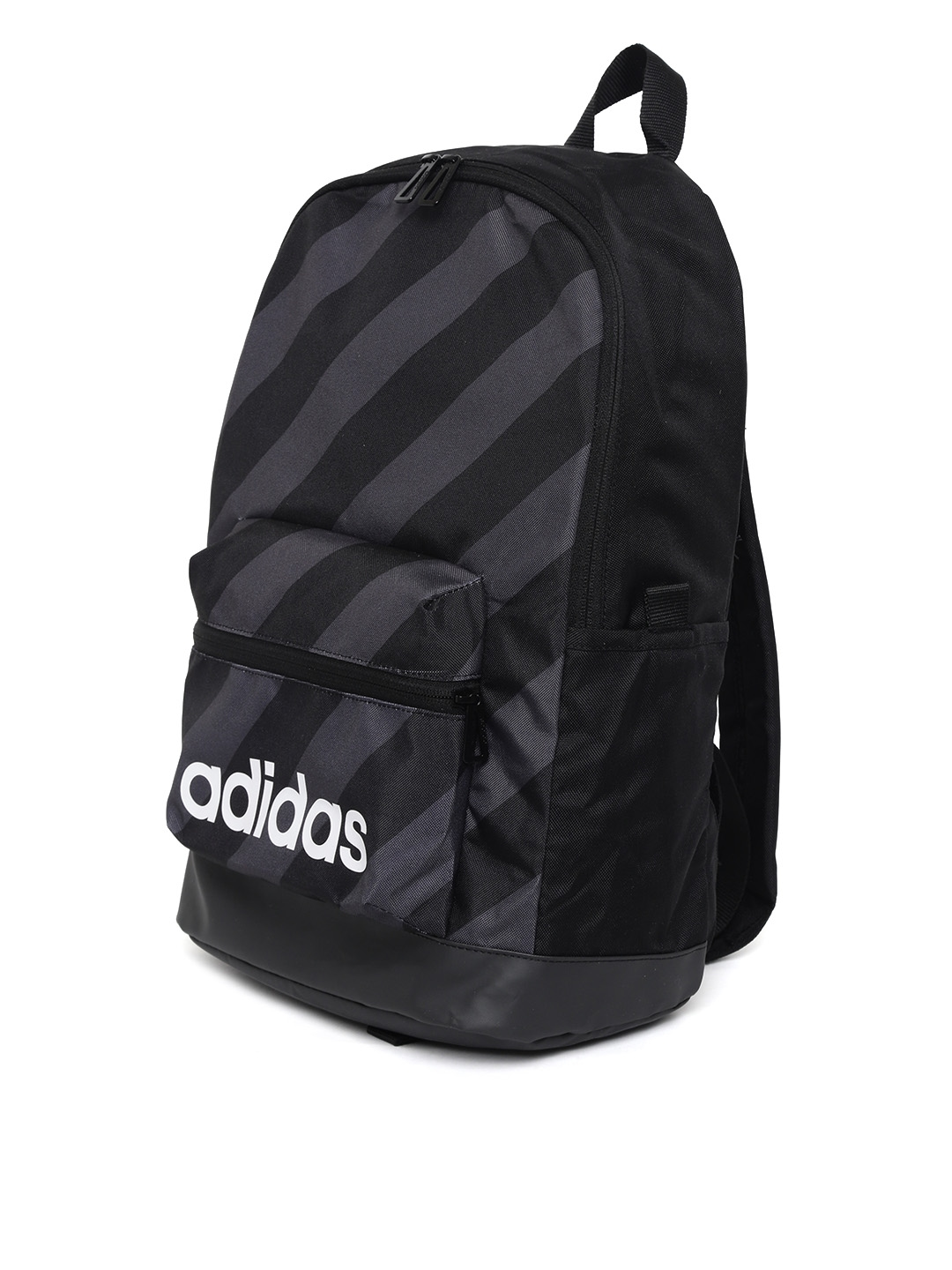 Buy ADIDAS Unisex Black   Charcoal Grey AOP Daily Striped Backpack ... 4ceec5d98f6ac