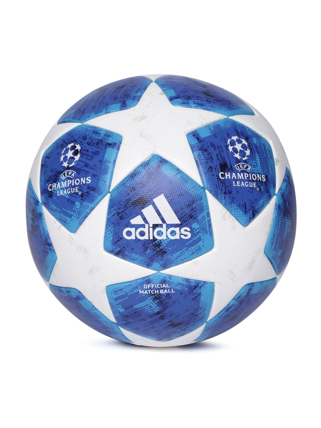 f809f5d61 ADIDAS Men Blue & White Finale18 OMB UEFA Champions League Match Ball  Replica Football
