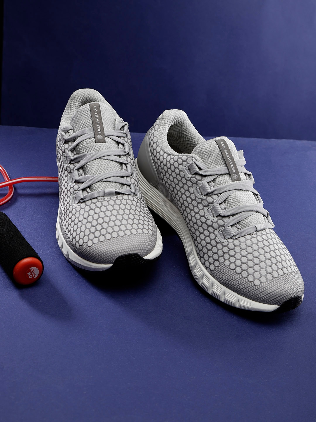 super popular be3b6 5231d UNDER ARMOUR Women Grey & Off-White UA HOVR CG Reactor NC Running Shoes