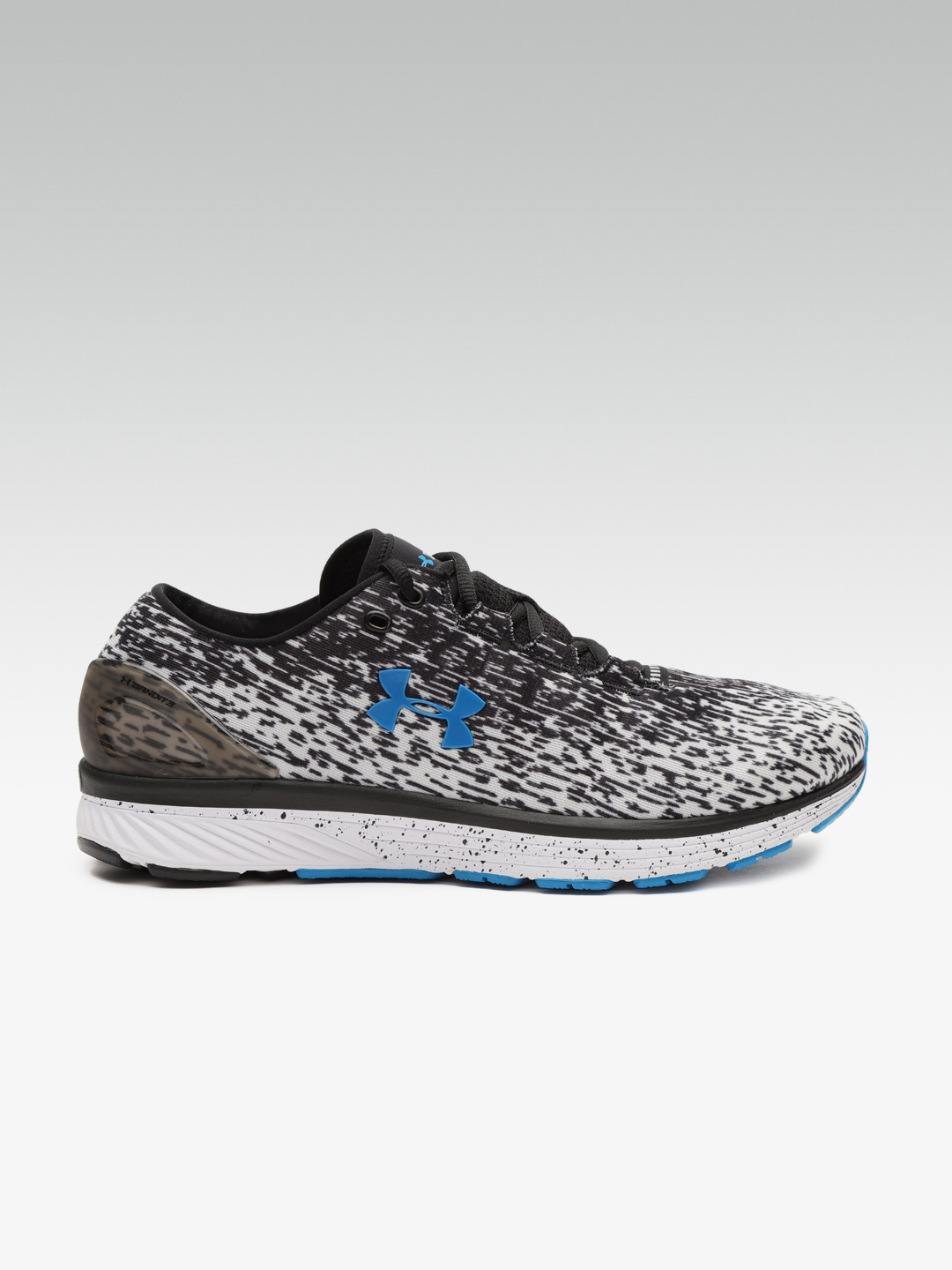 promo code a2ddd b7c2a UNDER ARMOUR Men Black & White Charged Bandit 3 Ombre Running Shoes